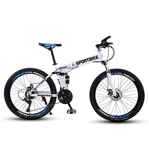 WGYDREAM Mountain Bike Youth Adult Mens Womens Bicycle MTB Mountain Bike,Fold Hardtail Bicycles,Carbon Steel Frame,Dual Disc Brake and Double Suspension Mountain Bike for Women Men Adults