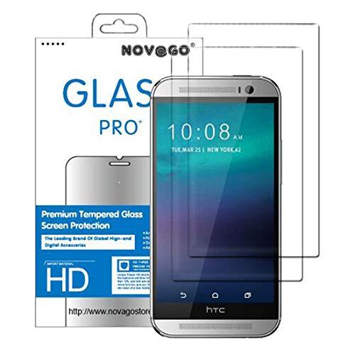 NOVAGO - Protector de Pantalla de Cristal Templado para HTC M8 (2 Unidades, 0,26 mm)