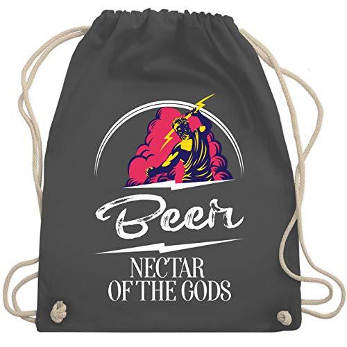 Shirtracer Sprüche - Beer Nectar of the gods - Unisize - Dunkelgrau - Beer Nectar of the gods - WM110 - Turnbeutel und Stoffbeutel aus Baumwolle