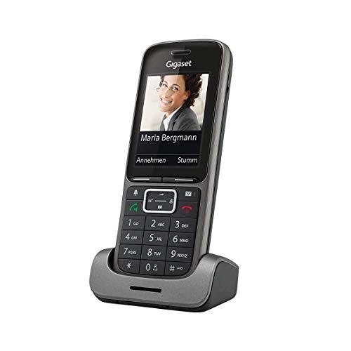 Gigaset Connect - DECT-Telefon schnurlos für Router - Fritzbox, Speedport kompatibel - mit Headset-Anschluss für Büro und Homeoffice - anthrazit-grau