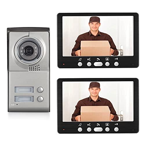 Vídeo Timbre Kit con El Carillón, Portero Cámara De Seguridad Exterior, De 7' TFT LCD Monitor De Video De La Puerta del Timbre del Teléfono para 2/3 Unidades Apartamento,A
