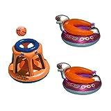 Swimline Basketball Hoop Toy & UFO Lounge Chair Pool Float w/Squirt Gun (2 Pack)