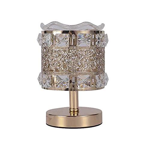 AOSHEN Lámpara De Escritorio LED Lámparas De Mesa De Cristal Modernas, Luz...