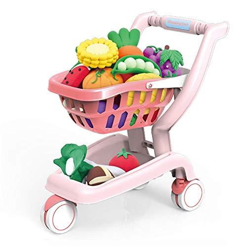 Deluxe juguete Carrito de la compra Puzzle infantil Educación Temprana supermercado Mini carretilla niños y niñas Simulación Carro de la Compra Juguetes Los juegos de simulación Shop y Rol de juegos p
