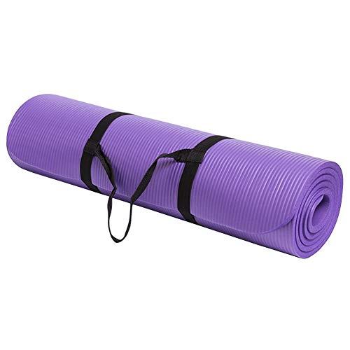 Esterilla Yoga Antideslizante,Alfombrilla de Yoga,Esterilla Deporte Yoga Pilates Extra Gruesa de 15MM,Colchonetas Deportivas Equipo de Entrenamiento Físico, Mujeres Ejercicio en Casa (Morado)