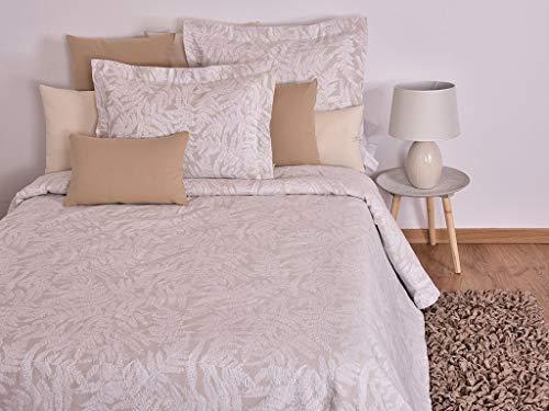 MI CASA 280X265 Aran-Decke (180), 80% Baumwolle, 20% Polyester, Beige