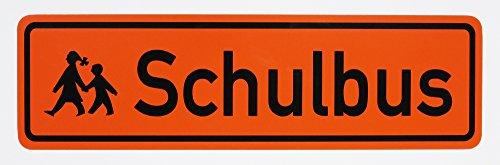 LOHOFOL Magnetschild Schulbus | Zusatzkennzeichnung | Schulbusschild Schild magnetisch | lieferbar in DREI Größen (35 x 10 cm)
