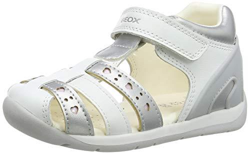 Geox B150AA085NF Bebé-Niñas, White/Silver, 19 EU