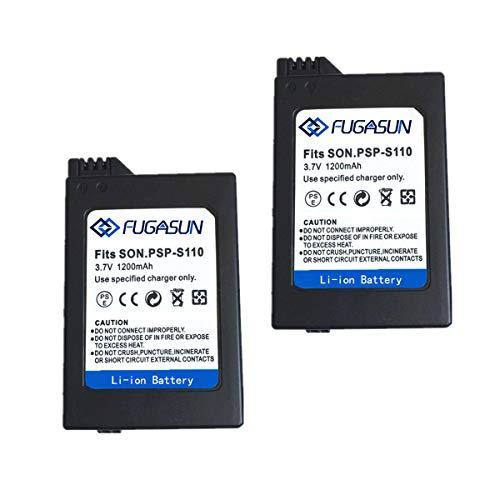 2 Piezas 1200 mAH PSP-S110 Batería PSP S110 Batería para Sony Playstation PSP2000 PSP2001 PSP2003 PSP2004 PSP3000 PSP3001 PSP3003 PSP3004 (2 pcs Battery)