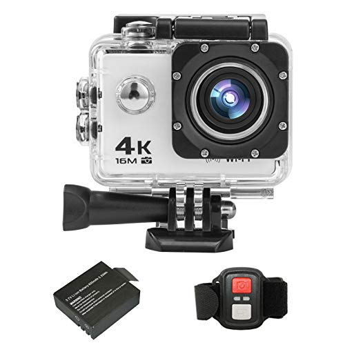 Andoer 4K Action Camera, 30FPS 16MP HD Sports Action Camera 2 Inch Large LCD Display Screen 170 Degree Wide Angle WiFi 2.4G Wireless Remote Control DV Camcorder with Waterproof Case Accessory Kit