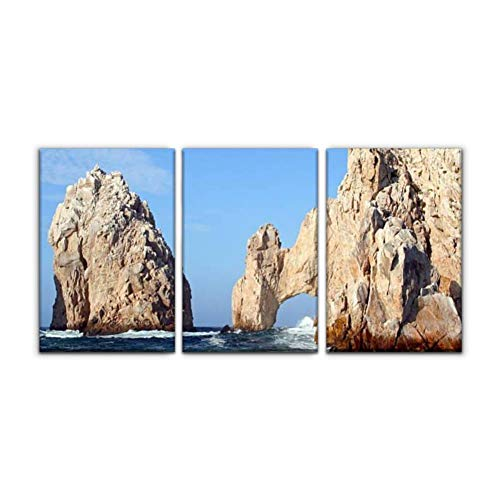 Modern Canvas Painting los arcos rock formation up close baja california stock pictures Wall Art Artwork Decor Printed Oil Painting Landscape Home Office Bedroom Framed Decor (16