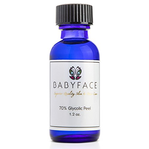Babyface Peeling Químico Profesional con Ácido Glicólico Concentrado al 70% - Exfoliante Capilar y Facial AHA Estimula el Colágeno Elimina Cicatrices del Acné y Manchas Reduce Arrugas y Líneas Finas