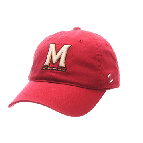 NCAA Zephyr Maryland Terrapins Mens Scholarship Relaxed Hat, Adjustable, Team Color
