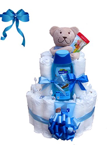 Windeltorte Junge | Das perfekte Geschenk zur Geburt & Taufe
