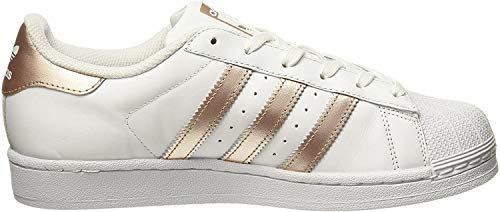 adidas Damen Superstar Sneaker, Weiß (Ftwwht/Supcol/Ftwwht), 39 1/3 EU