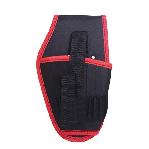 ounona Holster pour perceuse portautensile portable avec ceinture à outils pour électricien portable pour perceuse à batterie au Lithium (bord rouge)