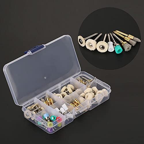 80pcs/set Dental Prophy Cup Polishing Brush Alumina Nylon Cotton Wool Felt Wheel Polisher for Teeth Whitening