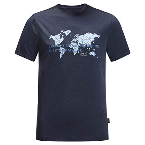 Jack Wolfskin Herren Jwp World T-Shirt, Night Blue, L