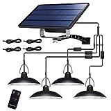 Solar Hängelampe , Solarleuchten für Außen IP65 Wasserdicht Solarpanel mit Fernbedienun,4x3m Kabel,Tragbare Solarlampen für Garten, Scheune, Balkon, Hühnerstall, Terrasse, Garage (Weiß)
