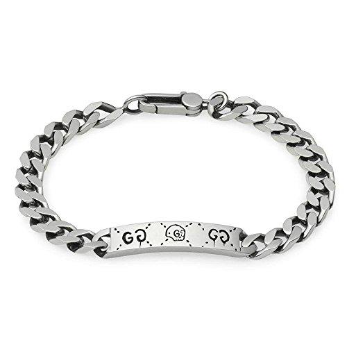 Gucci Pulsera de cadena fantasma en plata YBA455321001 blanco