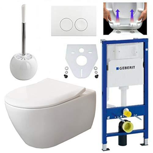 Geberit Duofix Vorwandelement, V&B Subway 2.0 spülrandlos, Beschichtung, Delta21, Kpl-Set, WC-Bürste Stehend
