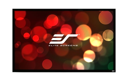 Check Out This Elite Screens 100 Inch 16:9 SableFrame Ambient Light-Rejecting 2D and 3D Projector Sc...