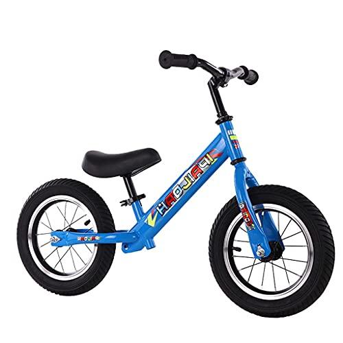 Yxxc Bicicleta de Equilibrio Desmontable para niños con Freno de pie y aleación de Acero de 12 Pulgadas sin Cadena (Negro, Blanco, Azul, Rojo, Rosa)