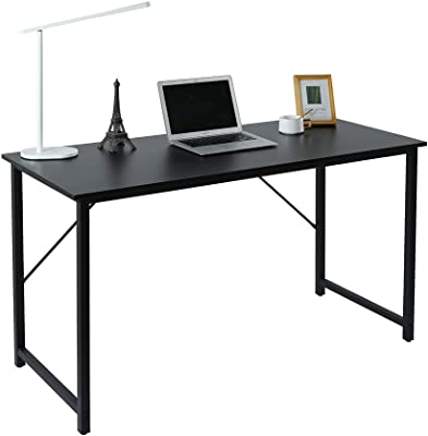 Computer Writing Desk, Home Office Desk for Laptop, 47 Inches Simple Style Writing Table, Multipurpose Workstation - Black