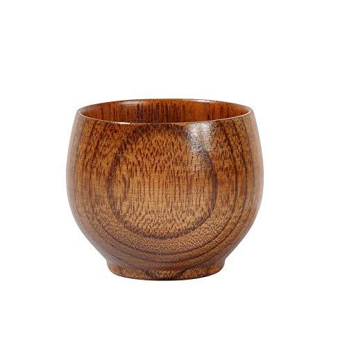 Kalaokei Taza de madera de Jujube para agua de estilo vintage, taza de té de madera, cerveza, leche, agua, hogar, restaurante, oficina, vajilla 1#