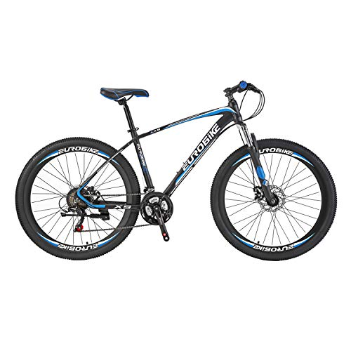 Mountain Bike LZ-27.5 Mountain Bike with Aluminum Alloy Frame 21_speeds Dual Disc Brake 27.5inchs Bycicle Blue