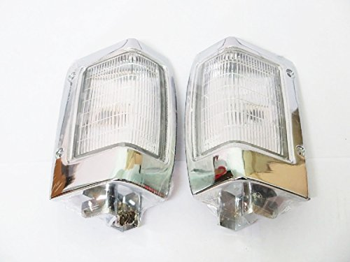 Chrome Corner Signal Lights Indicator for Nissan Navara D21 Pickup Year 1990-1997 Pair