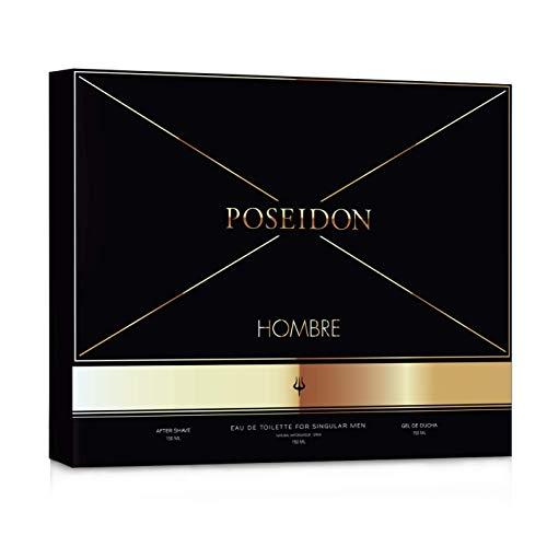 Poseidon Estuche Hombre-Eau de Toilette, After Shave, Gel de Ducha, Estándar, 1 Unidad (Paquete de 1)
