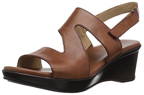 Naturalizer Women's Valerie Wedge Sandal, Saddle, 7.5 Narrow US
