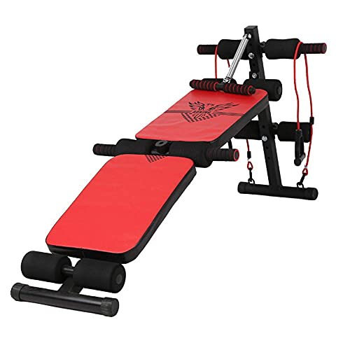 Entrenador abdominal, máquina de ejercicio abdominal plegable, tabla abdominal multifunción para el...