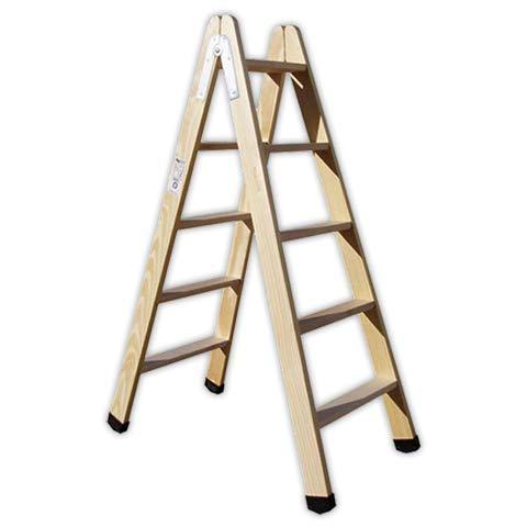 DOJA Industrial | Escalera pintor PLABELL BLD5 | Peso 7Kg Madera (5 Peldaños)