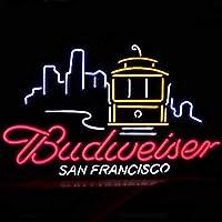 ネオンサイン、『Budweiser 』NEON SIGN 、ディスプレイ サインボード、ギフト、 省エネ、バー、カフェ、喫茶店、広告用看板、クラブ及び娯楽場所等 インテリア 16 *15インチ ME113