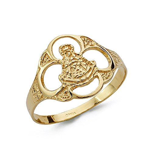 18 Karat Gold Ring Virgen del Rocio Tamburin [AA0680]