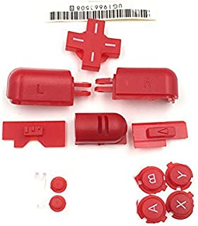 Left Right ABXY LR Full Button Set for DS Lite NDSL Buttons Kit Red Color
