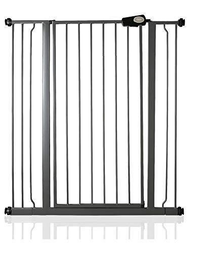 Bettacare Child and Pet Gate Pressure Fit Stair and Pet Gate 75cm - 147.5cm (94.3cm - 101.9cm, Slate...