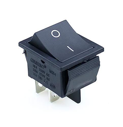 HGLNBN Interruptor basculante 10 PC Rocker Interruptor de ON-Off 2 Posición Equipo de 6 Patillas eléctricas con el Interruptor de luz 16A 250VAC / 20A 125VAC 4 Pins