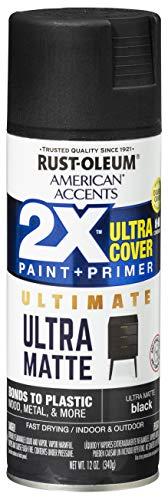 Rust-Oleum 328392 American Accents Spray Paint, 12 Oz, Ultra Matte Black