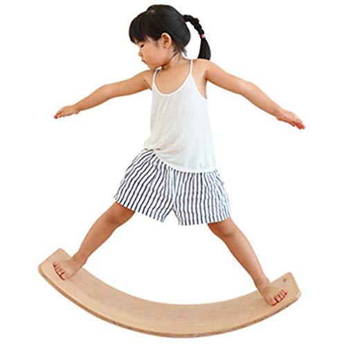 HQPCAHL Balance Board Holz Wobble Board 31 Zoll Big Size Kid Yoga Balance Board-Natürliche Farbe,Natural
