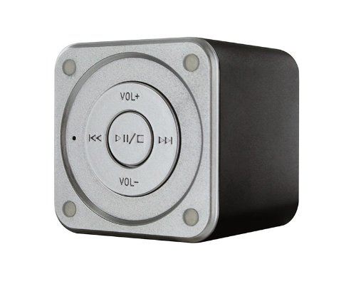 Muvit MUSSP0008 altavoz portátil 3 W Altavoz monofónico portátil Negro, Gris - Altavoces portátiles (1.0 canales, De 1 vía, 4,5 cm, 4,49 cm, 3 W, 150-18000 Hz)