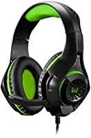 Headset Gamer Warrior Rama P3+USB Stereo Adaptador P2 LED Verde - PH299, Warrior, Microfones e fones de ouvido, Preto/Verde