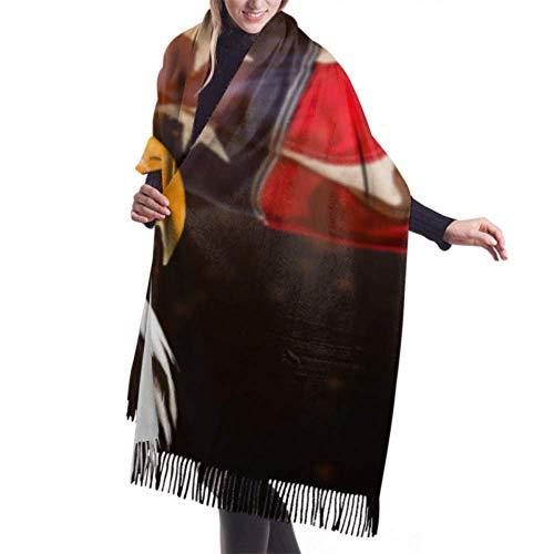 Bufanda con flecos 27'x77' Chales y abrigos para mujer Calvo norteamericano con bufanda de cachemir grande Bufanda para mujer Ligera, elegante, grande, clida