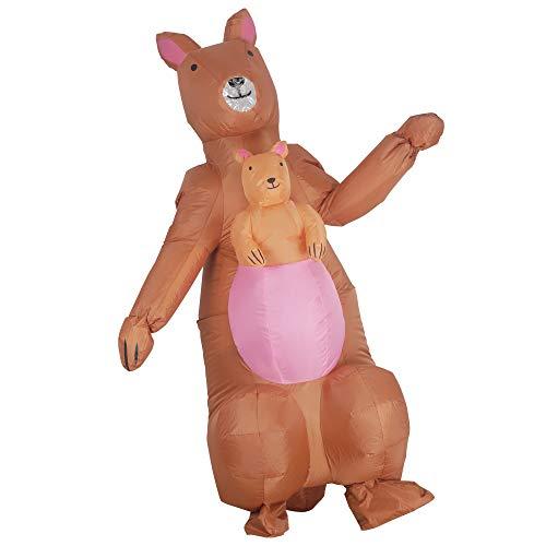 AmaMary Canguro Inflable,Disfraz de Canguro Inflable de Halloween para Unisex Hombres Mujeres Adultos Traje de explosión