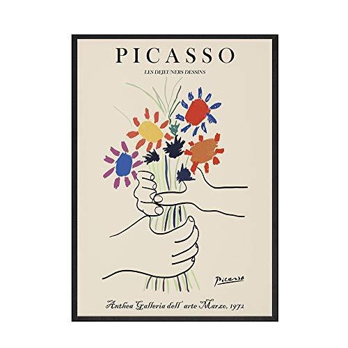 Picasso Matisse Leinwandbild Gemälde Drucke Abstraktes Mädchen Körper Gesicht Poster Home rahmenlos Dekorative Leinwand Gemälde A 50 x 70 cm