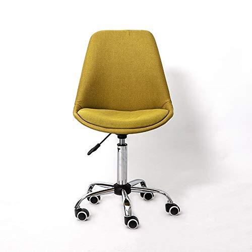MAOS Escritorio Acceso for sillas de Oficina cómoda Silla Acolchada Ordenador de Escritorio Patas cromadas Ruedas Muebles Altura Ajustable for el Dormitorio Principal (Color : Green)