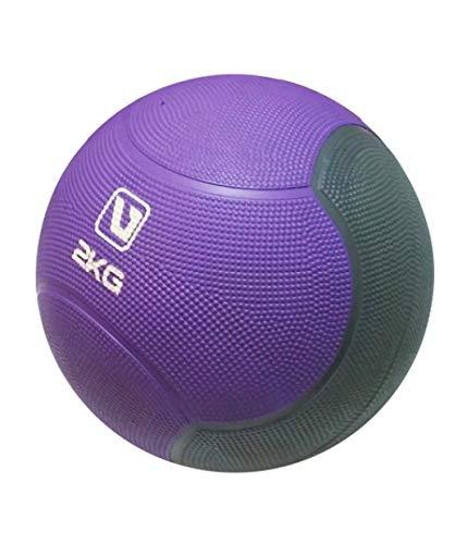 LiveUP Sports - Palla Medica 2kg Medicine Ball Professional Cross Training Core Palestra Esercizi Fitness, Purple