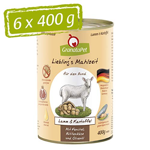 GranataPet Comida húmeda para Perros, Cordero y Patatas, Co